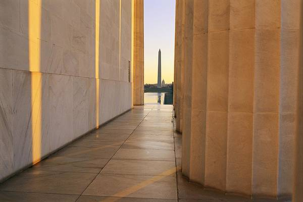 Wall Art - Photograph - Washington Monument Seen by Sisse Brimberg