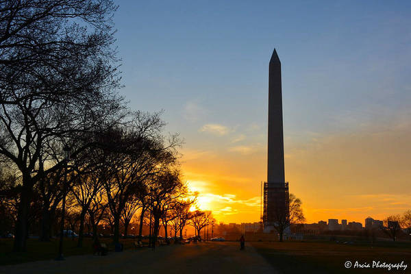 Photograph - Washington Monument Under Repair by Ken Arcia