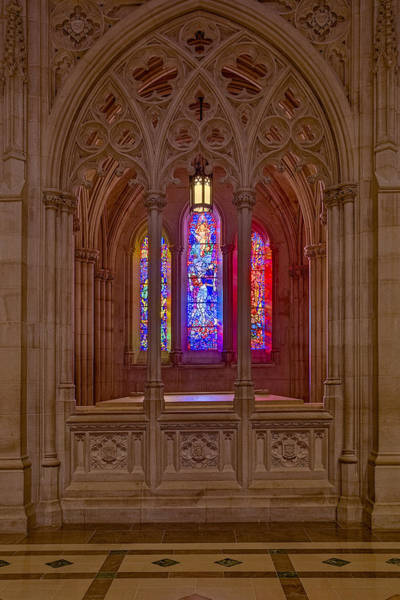 Photograph - Washington National Cathedral Colors by Susan Candelario