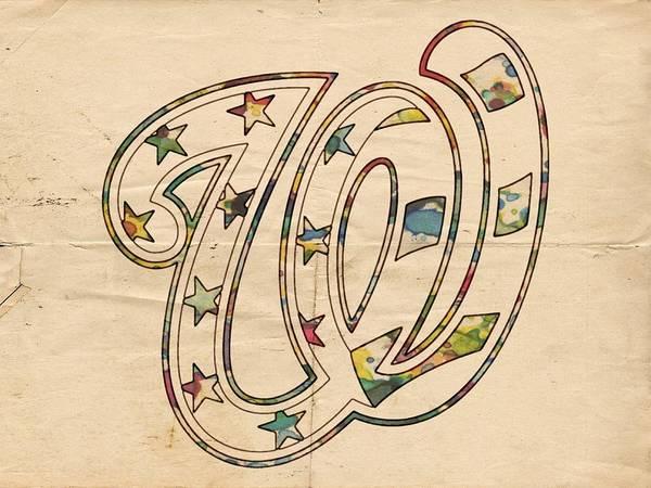 Painting - Washington Nationals Logo Vintage by Florian Rodarte