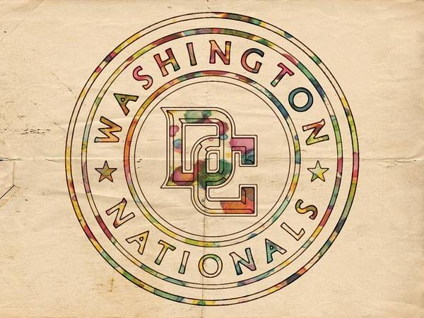 Painting - Washington Nationals Poster Vintage by Florian Rodarte