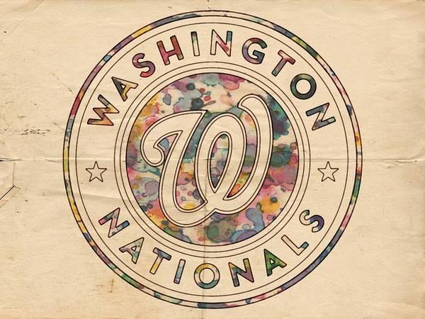 Painting - Washington Nationals Vintage Art by Florian Rodarte