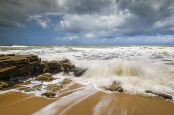St Augustine Photograph - Washington Oaks State Park Florida Beach - Coquina Crash by Dave Allen