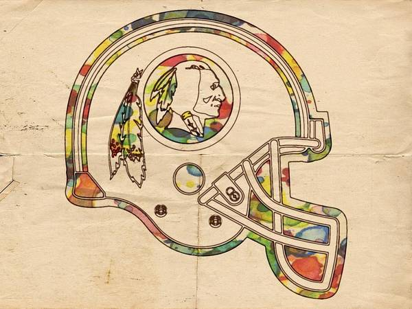 Painting - Washington Redskins Helmet Poster by Florian Rodarte