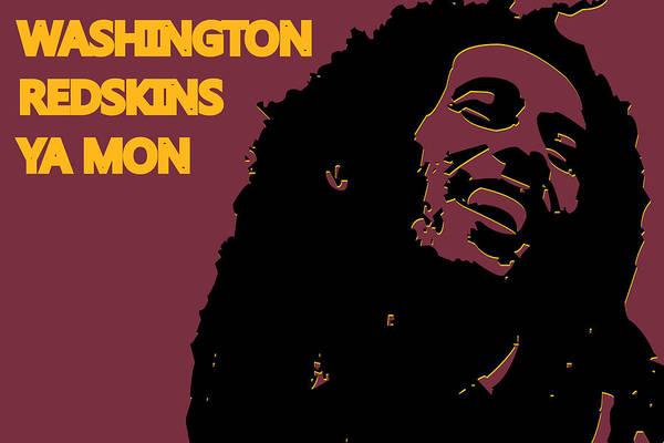 Drum Player Wall Art - Photograph - Washington Redskins Ya Mon by Joe Hamilton