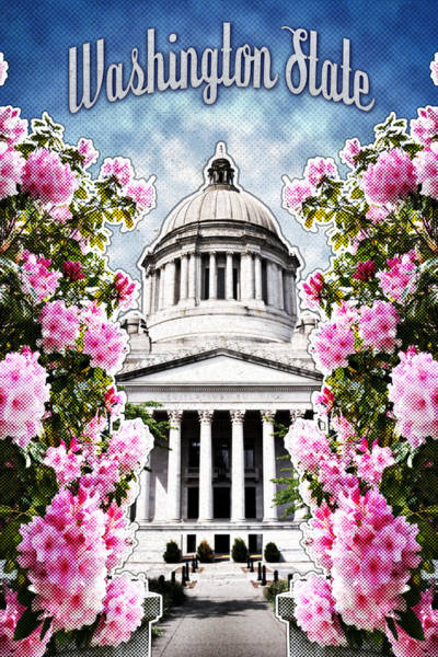 Digital Art - Washington State Capitol by April Moen
