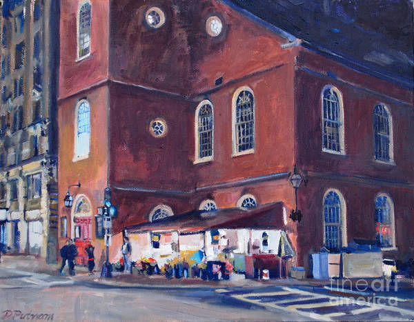 Painting - Washington Street Night by Deb Putnam