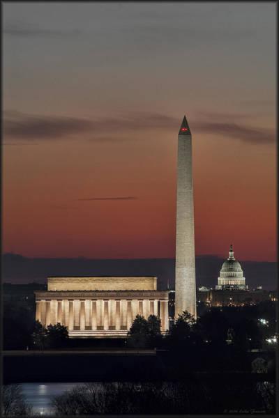 Photograph - Washington Trifecta Sunrise by Erika Fawcett