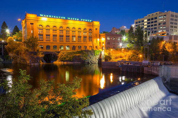 Spokane Photograph - Washington Water Power by Inge Johnsson
