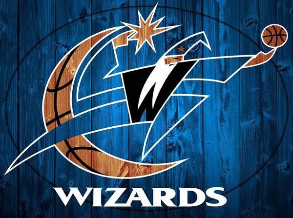 Mixed Media - Washington Wizards Barn Door by Dan Sproul