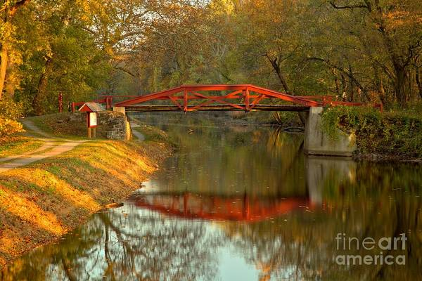 Photograph - Washington Crossing Red Bridge by Adam Jewell