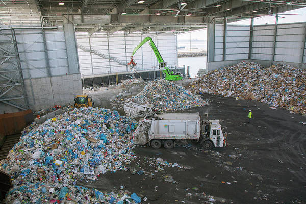 Waste Arriving At A Recycling Centre Art Print