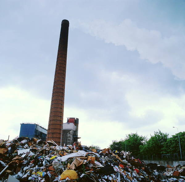 Bolton Photograph - Waste-burning Power Station by Robert Brook/science Photo Library