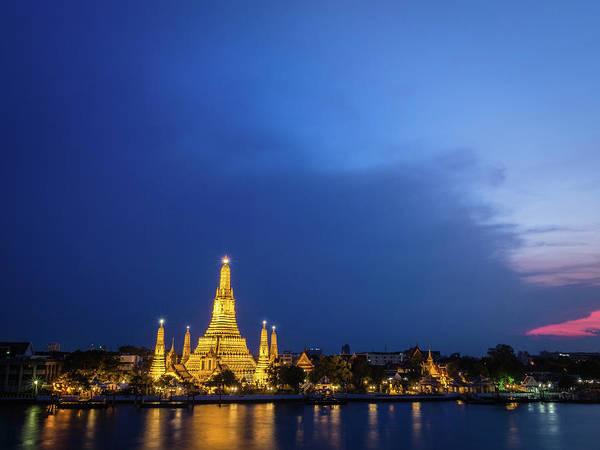 Dawn Photograph - Wat Arun Temple At Dawn by Win-initiative