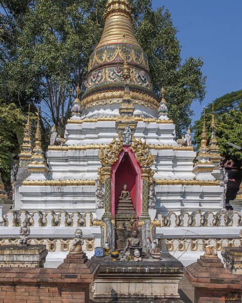 Chang Mai Wall Art - Photograph - Wat Chai Monkol Phra Chedi Buddha Niche Dthcm0863 by Gerry Gantt