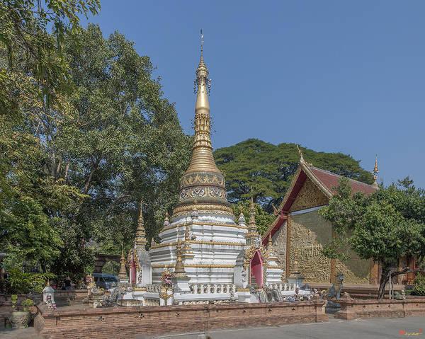Chang Mai Wall Art - Photograph - Wat Chai Monkol Phra Chedi Dthcm0859 by Gerry Gantt