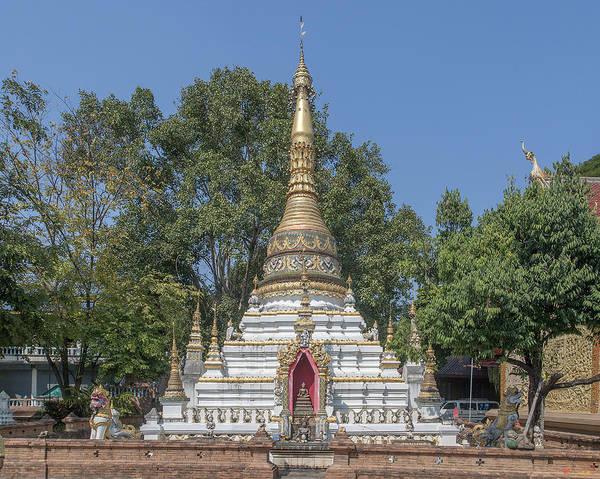 Chang Mai Wall Art - Photograph - Wat Chai Monkol Phra Chedi Dthcm0860 by Gerry Gantt