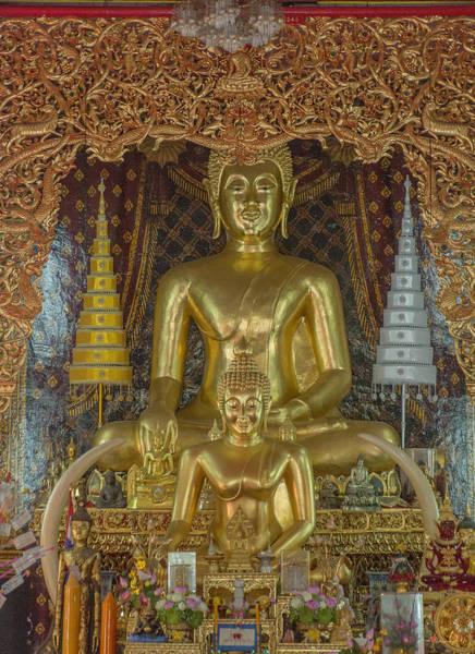Chang Mai Wall Art - Photograph - Wat Chai Monkol Phra Ubosot Buddha Images Dthcm0849 by Gerry Gantt