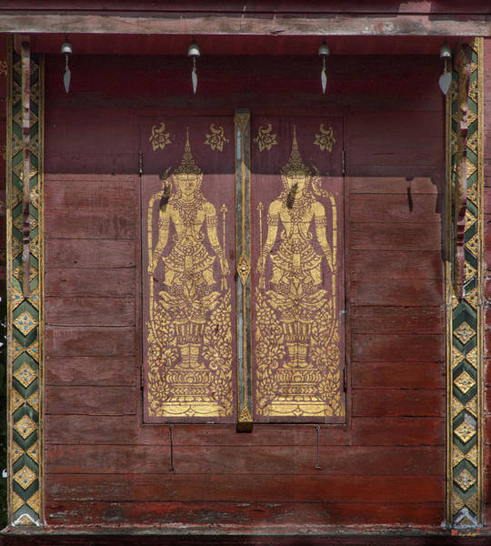 Chang Mai Wall Art - Photograph - Wat Chai Sri Phoom Ho Tham Window Shutters  Dthcm0185 by Gerry Gantt