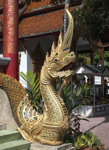 Chang Mai Wall Art - Photograph - Wat Chai Sri Phoom Phra Wiharn Naga  Dthcm0177 by Gerry Gantt
