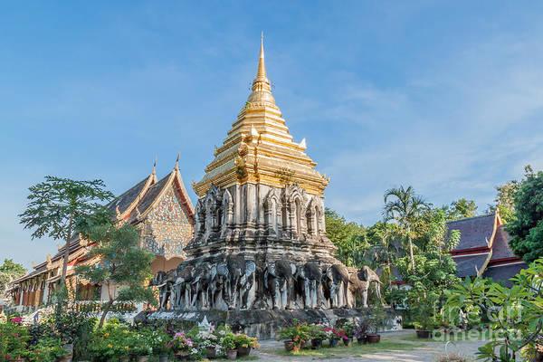 Chang Mai Wall Art - Photograph - Wat Chiang Man by Jennifer Stinson