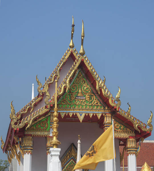 Photograph - Wat Kampaeng Phra Ubosot Gable Dtha0143 by Gerry Gantt