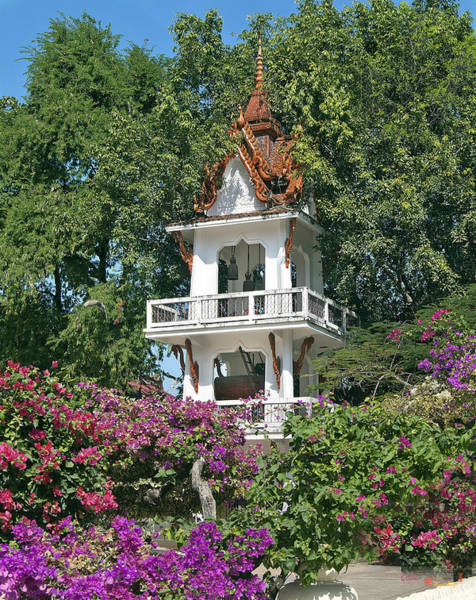 Photograph - Wat Mahawanaram Bell And Drum Tower Dthu661 by Gerry Gantt