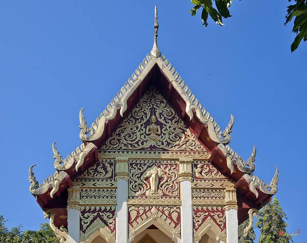 Photograph - Wat Mai Thong Sawang Ubosot Gable Dthu536 by Gerry Gantt