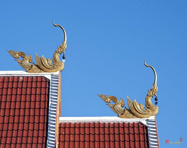 Photograph - Wat Mongkol Kowitharam Ubosot Roof Finials Dthu490 by Gerry Gantt