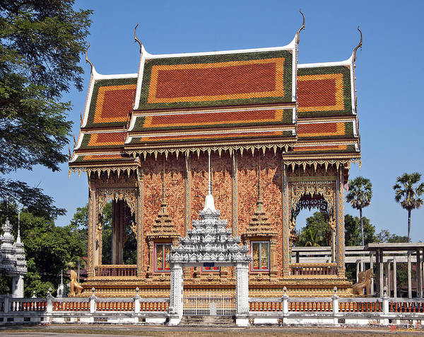Photograph - Wat Na Kwai Ubosot Dthu156 by Gerry Gantt