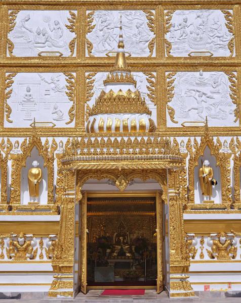 Photograph - Wat Nong Bua Door Of Main Stupa Dthu448 by Gerry Gantt