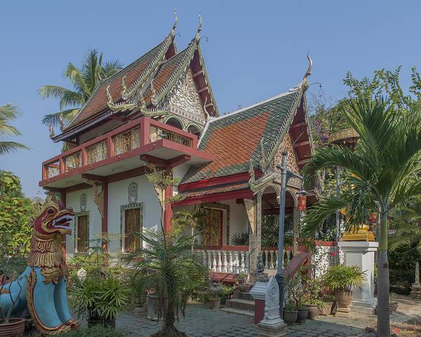 Chang Mai Wall Art - Photograph - Wat Pa Phrao Nok Phra Ubosot And Ho Trai Dthcm0763 by Gerry Gantt