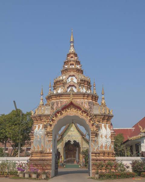 Chang Mai Wall Art - Photograph - Wat Pa Phrao Nok Temple Gate Dthcm0772 by Gerry Gantt