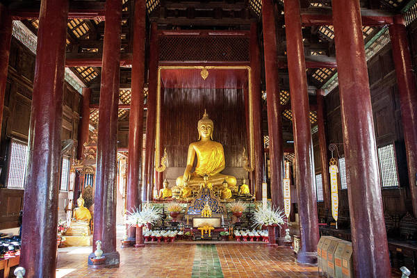 Chiang Mai Province Photograph - Wat Phan Tao, Chiang Mai, Thailand by Christine Wehrmeier