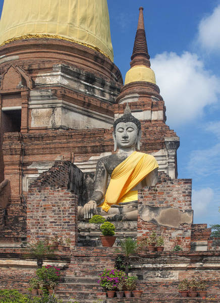 Photograph - Wat Phra Chao Phya-thai Buddha Image In Ruined Alcove Dtha003 by Gerry Gantt