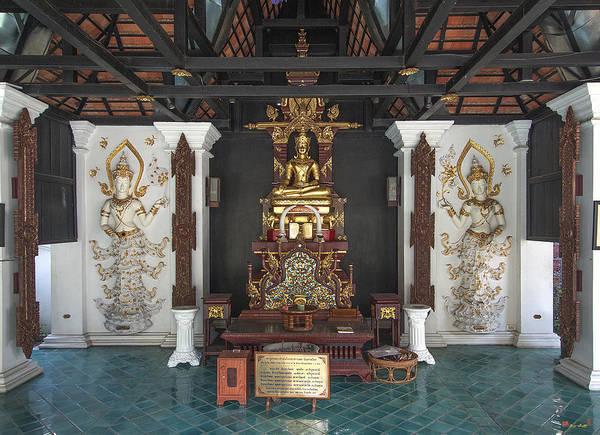 Chang Mai Wall Art - Photograph - Wat Puack Chang Merit Pavilion Buddha  Dthcm0164 by Gerry Gantt