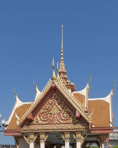 Photograph - Wat Ruak Pavilion Roof Dthb1851 by Gerry Gantt