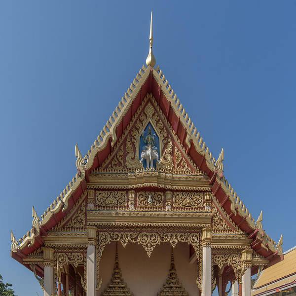Photograph - Wat Ruak Phra Ubosot Gable Dthb1840 by Gerry Gantt