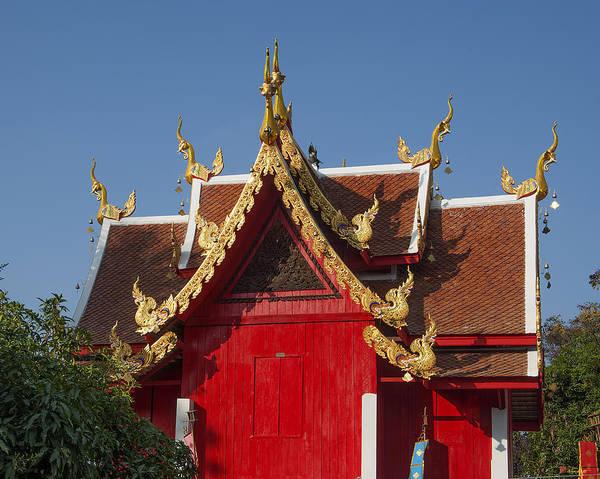 Chang Mai Wall Art - Photograph - Wat Sri Don Chai Ho Tham Gables Dthcm0099 by Gerry Gantt