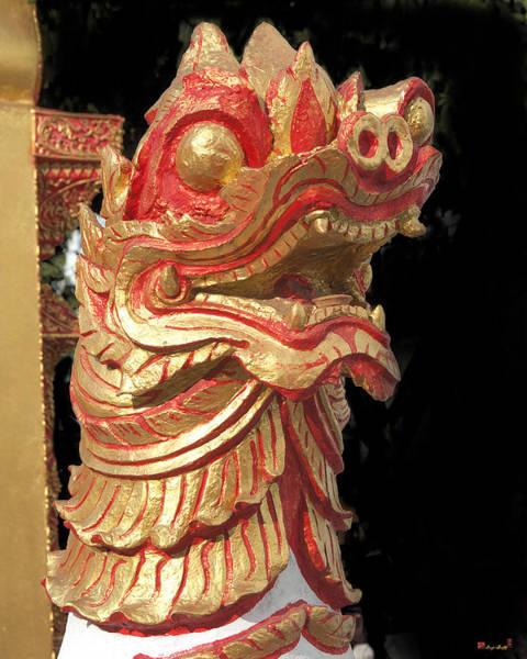 Chang Mai Wall Art - Photograph - Wat Sri Don Chai Lion Dthcm0105 by Gerry Gantt