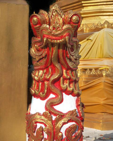 Chang Mai Wall Art - Photograph - Wat Sri Don Chai Lion Dthcm0106 by Gerry Gantt