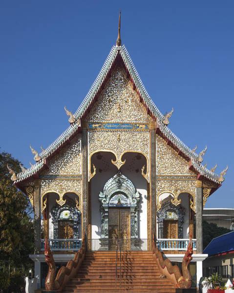 Chang Mai Wall Art - Photograph - Wat Sri Don Chai Phra Wiharn Dthcm0084 by Gerry Gantt
