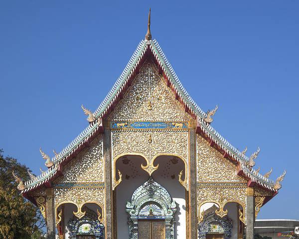 Chang Mai Wall Art - Photograph - Wat Sri Don Chai Phra Wiharn Gable Dthcm0085 by Gerry Gantt