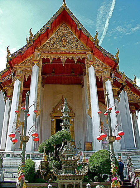 Wat Suthat Photograph - Wat Suthat In Bangkok-thailand by Ruth Hager