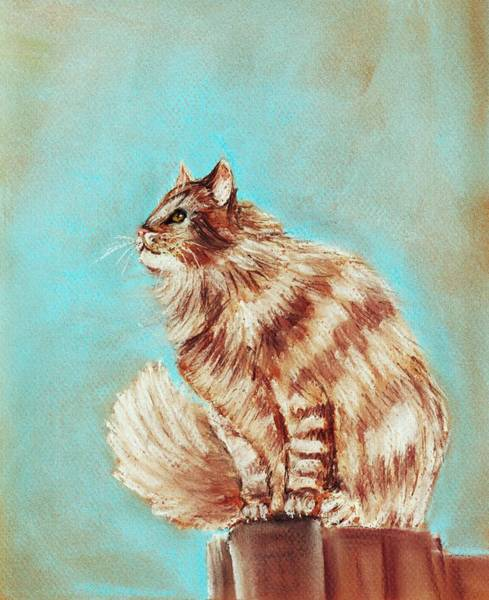 Wall Art - Painting - Watch Cat by Anastasiya Malakhova