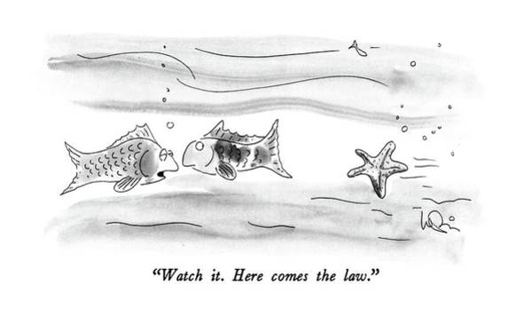 July 4th Drawing - Watch It.  Here Comes The Law by Arnie Levin