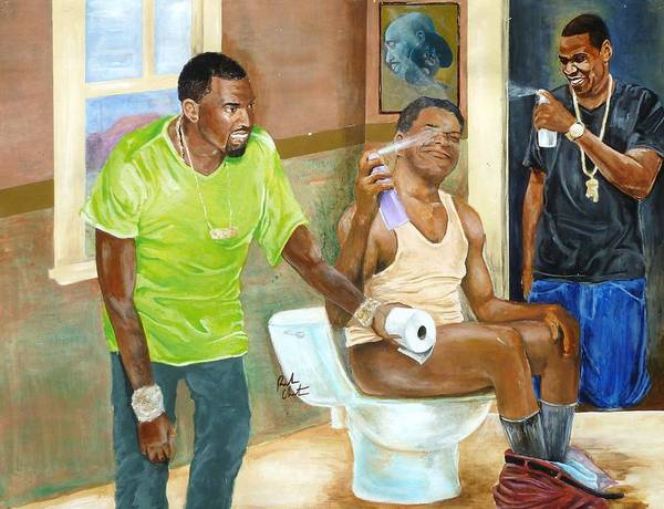 Hops Painting - Watch The Throne by Reuben Cheatem