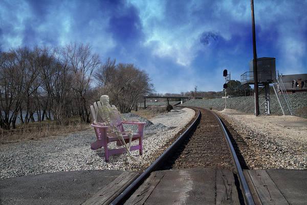 Train Tracks Digital Art - Watchful In Scottsville Virginia by Betsy Knapp