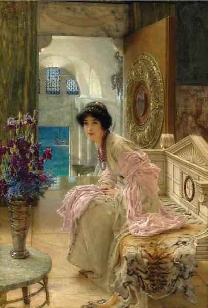 Wall Art - Painting - Watching And Waiting by Lawrence Alma-Tadema