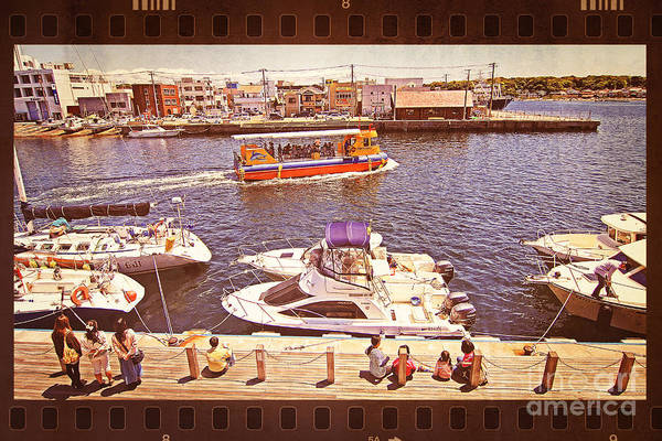 Photograph - Watching Boats On The Port by Beverly Claire Kaiya